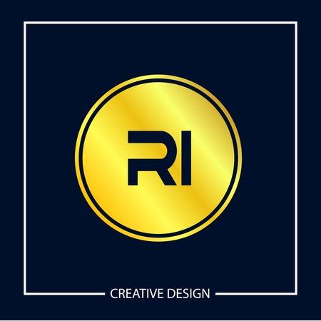 Initial Letter RI Logo Template Design Vector Illustration Ilustrace