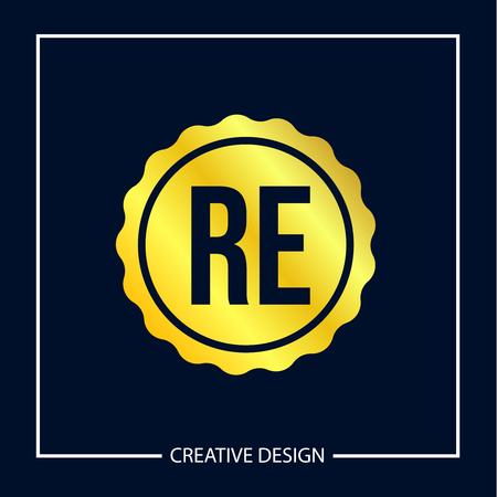 Initial Letter RE Logo Template Design Vector Illustration