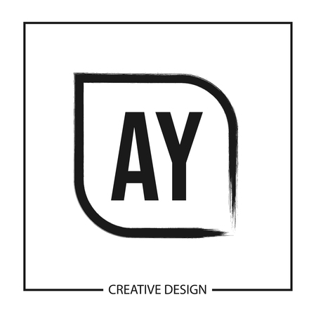 Initial Letter AY Logo Template Design Vector Illustration Stock Vector - 113001840