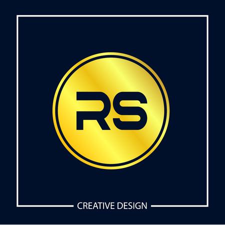 Initial Letter RS Logo Template Design Vector Illustration