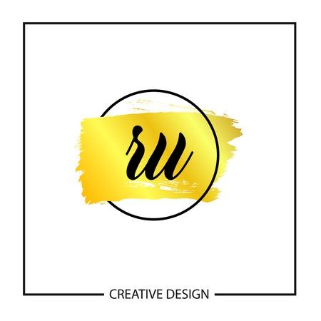 Initial Letter RU Logo Template Design Vector Illustration Logó