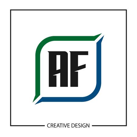 Initial Letter AF Logo Template Design Vector Illustration Ilustração