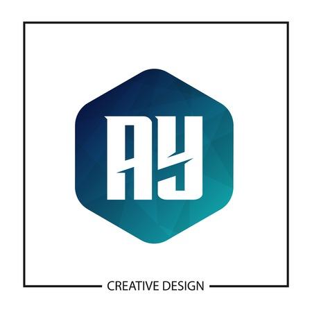 Initial Letter AY Logo Template Design Vector Illustration Stock Vector - 113002229