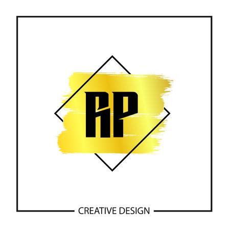 Initial Letter RP Logo Template Design Vector Illustration