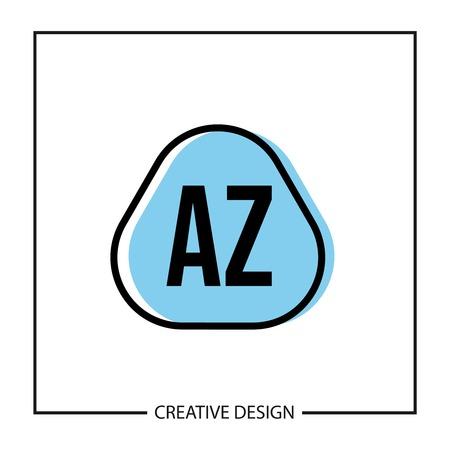 Initial Letter AZ Logo Template Design Vector Illustration Logo