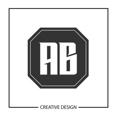Initial Letter AB Logo Template Design Vector Illustration Ilustração