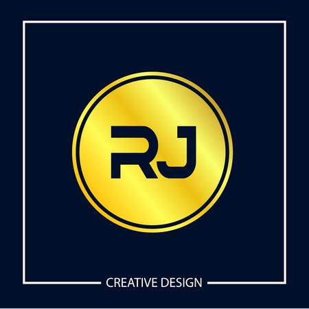 Initial Letter RJ Logo Template Design Vector Illustration Иллюстрация