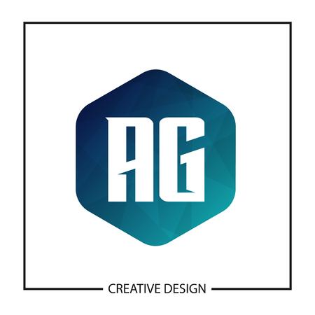 Initial Letter AG Logo Template Design Vector Illustration Illustration