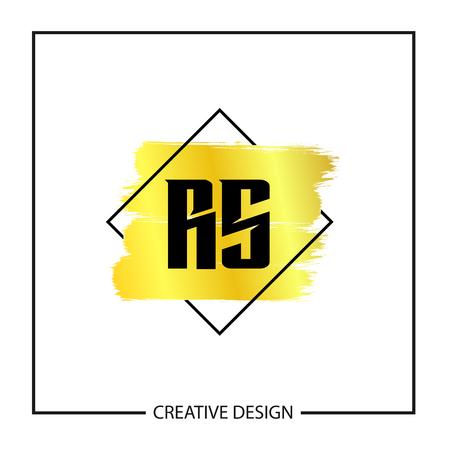 Initial Letter RS Logo Template Design Vector Illustration Logó
