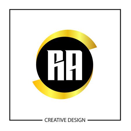 Początkowa litera RA Logo szablon projektu ilustracji wektorowych