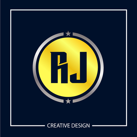 Initial Letter RJ Logo Template Design Vector Illustration