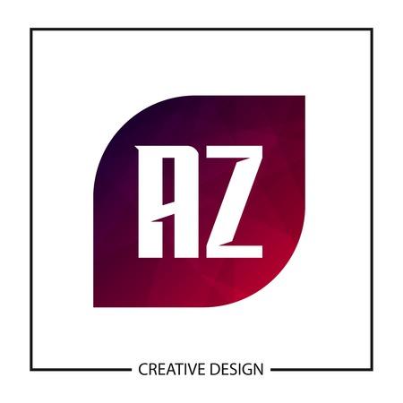 Initial Letter AZ Logo Template Design Vector Illustration