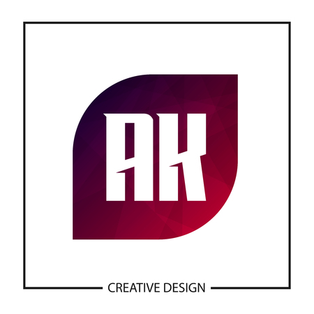 Initial Letter AK Logo Template Design Vector Illustration