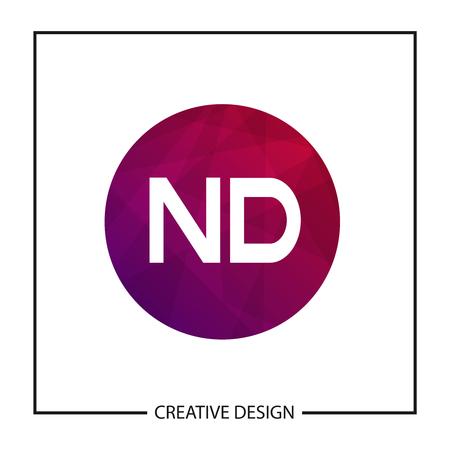 Initial Letter ND Logo Template Design Vector Illustration