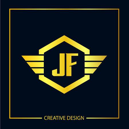 Initial Letter JF Logo Template Design Vector Illustration