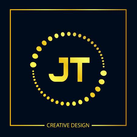 Initial Letter JT Logo Template Design Vector Illustration Logó