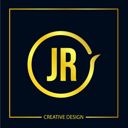 Initial Letter JR Logo Template Design Vector Illustration Иллюстрация
