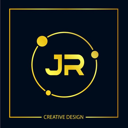 Initial Letter JR Logo Template Design Vector Illustration