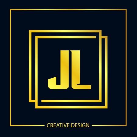 Initial Letter JL Logo Template Design Vector Illustration Vectores