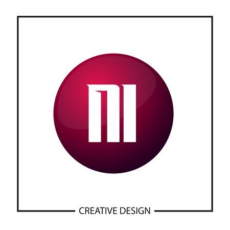 Initial Letter NI Logo Template Design Vector Illustration Logó