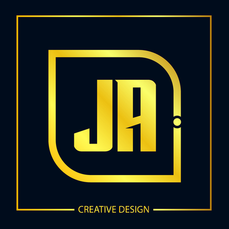 Initial Letter JA Logo Template Design Vector Illustration Illustration