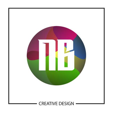 Initial Letter NB Logo Template Design Vector Illustration