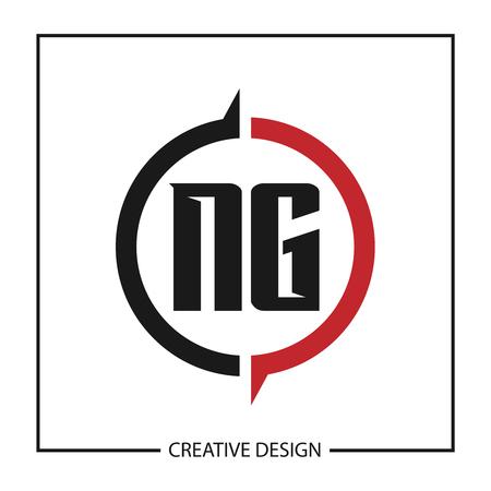 Initial Letter NG Logo Template Design Vector Illustration