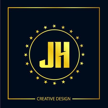 Initial Letter JH Logo Template Design Vector Illustration