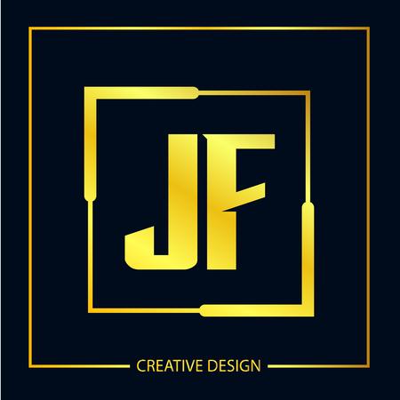 Initial Letter JF Logo Template Design Vector Illustration Logó