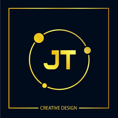 Initial Letter JT Logo Template Design Vector Illustration