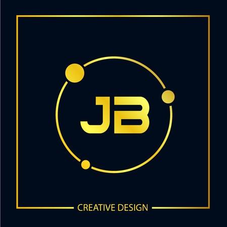 Initial Letter JB Logo Template Design Vector Illustration