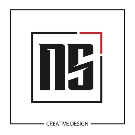 Initial Letter NS Logo Template Design Vector Illustration Ilustrace