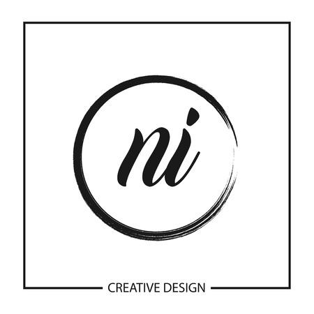 Initial Letter NI Logo Template Design Vector Illustration