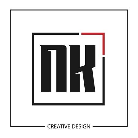 Initial Letter NK Logo Template Design Vector Illustration Logó