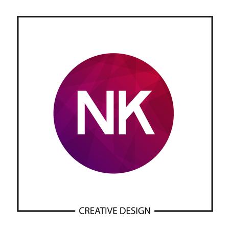 Initial Letter NK Logo Template Design Vector Illustration Illustration