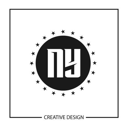 Initial Letter NY Logo Template Design Vector Illustration