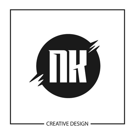 Initial Letter NK Logo Template Design Vector Illustration Ilustrace