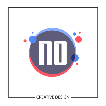 Initial Letter NO Logo Template Design Vector Illustration Ilustração