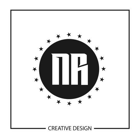 Initial Letter NR Logo Template Design Vector Illustration Logo