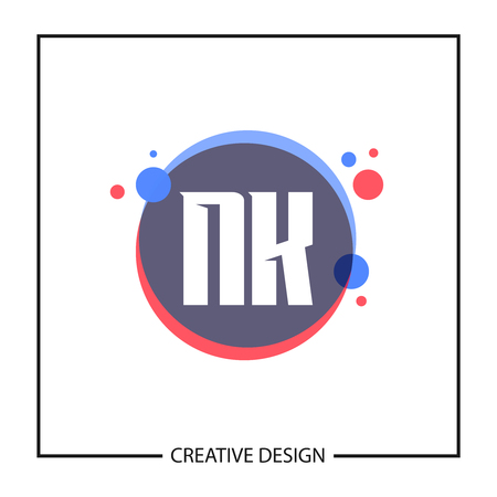 Initial Letter NK Logo Template Design Vector Illustration