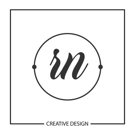 Initial Letter RN Logo Template Design Vector Illustration
