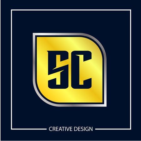 Initial Letter SC Logo Template Design Vector Illustration
