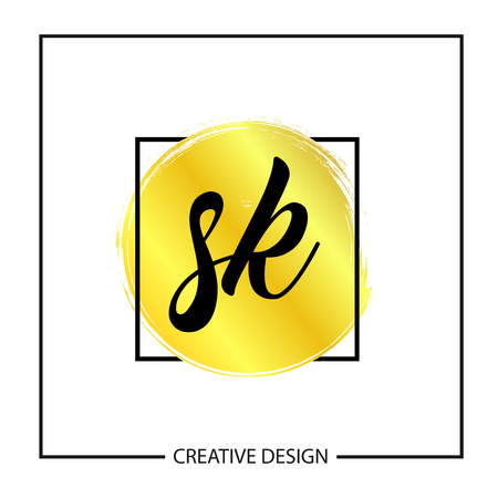 Initial Letter SK Logo Template Design Vector Illustration