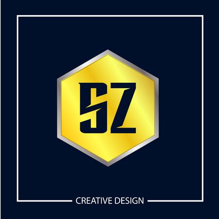 Initial Letter SZ Logo Template Design Vector Illustration