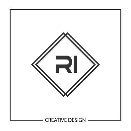 Initial Letter RI Logo Template Design Vector Illustration Stock fotó - 113002998