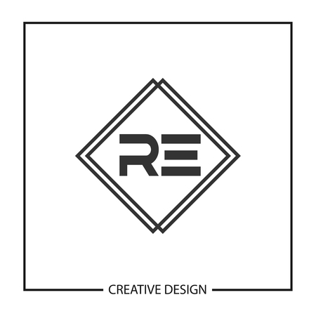 Initial Letter RE Logo Template Design Vector Illustration Logo