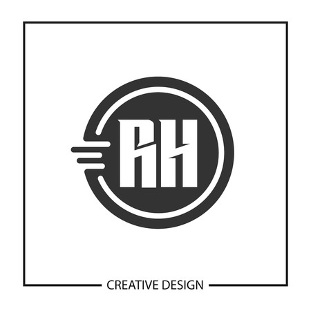 Initial Letter RH Logo Template Design Vector Illustration