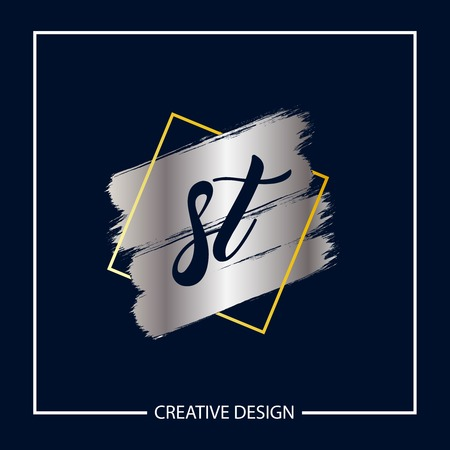 Initial Letter ST Logo Template Design Vector Illustration