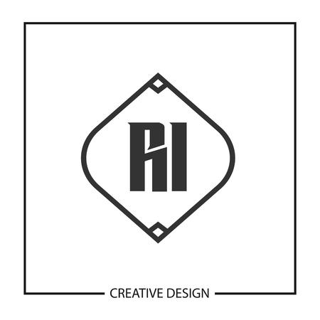 Initial Letter RI Logo Template Design Vector Illustration Illusztráció