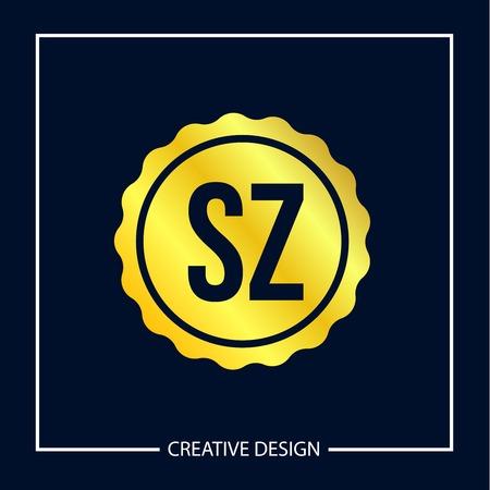 Initial Letter SZ Logo Template Design Vector Illustration Logó